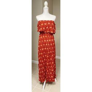 Boutique Printed Strapless Maxi Dress - XL - NWT